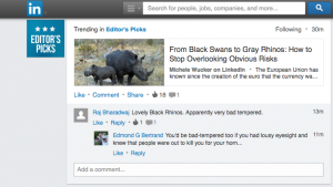 LinkedIn Black Swan Gray Rhino
